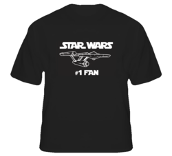 Star Wars Trek Number One Fan Funny Parody T Shirt