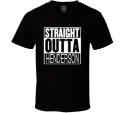 Straight Outta Henderson Nevada Parody Movie T Shirt