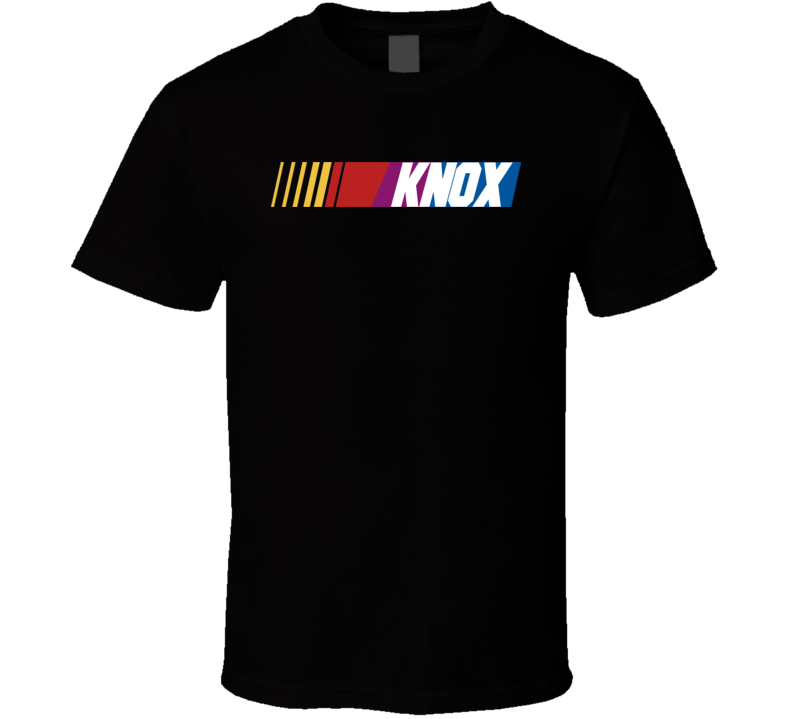 Knox Nascar Driver Custom Last Name Special T Shirt