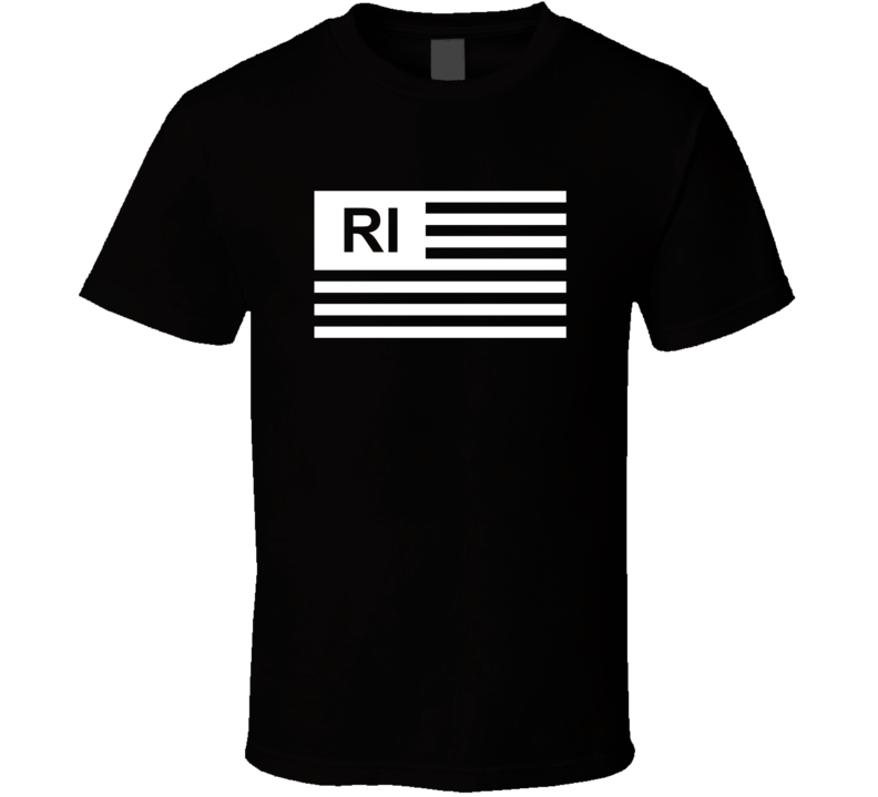American Flag Rhode Island RI Country Flag Black And White T Shirt
