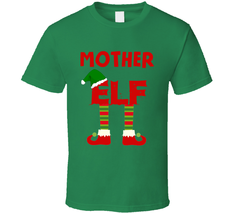 mother Elf Christmas Holiday Personalized T Shirt