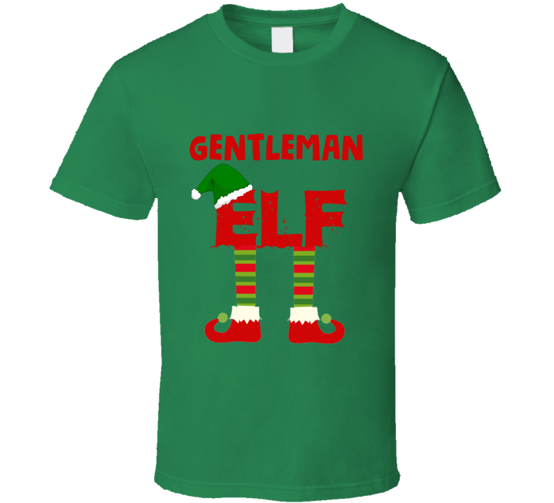 gentleman Elf Christmas Holiday Personalized T Shirt