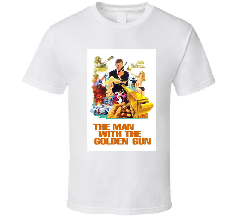 The Man With The Golden Gun 007 Movie Cover  T Shirt