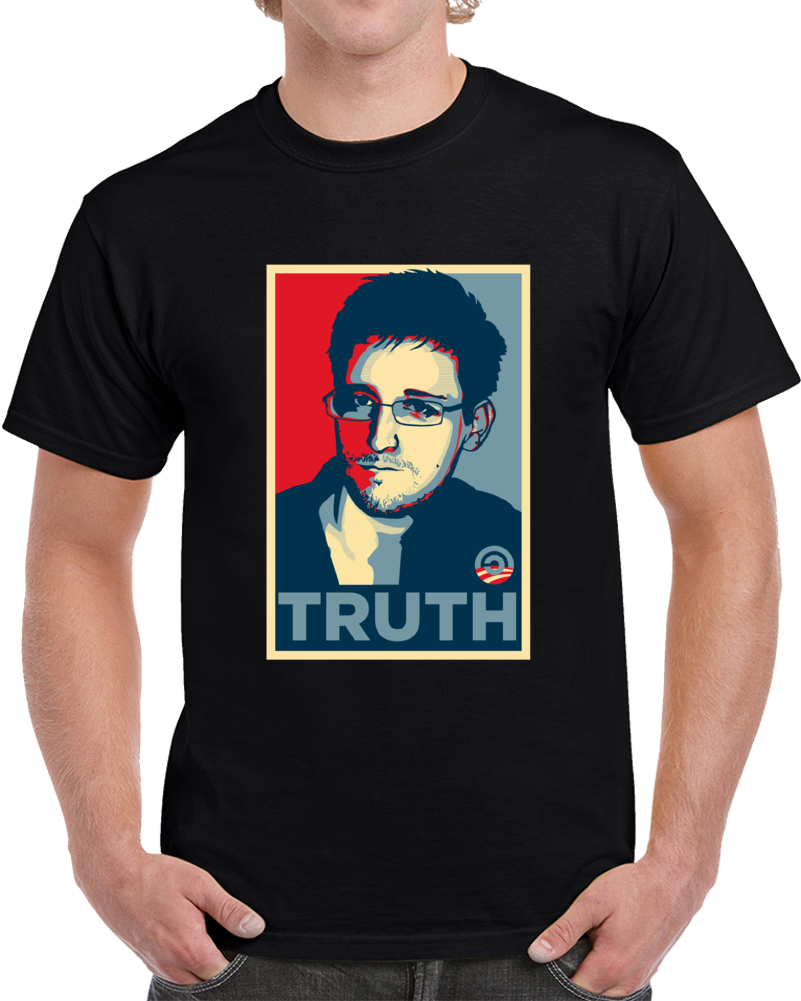 Edward Snowden Truth Hope Poster T Shirt