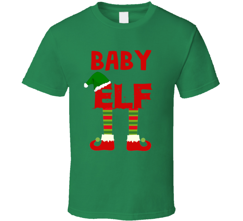 baby Elf Christmas Holiday Personalized T Shirt