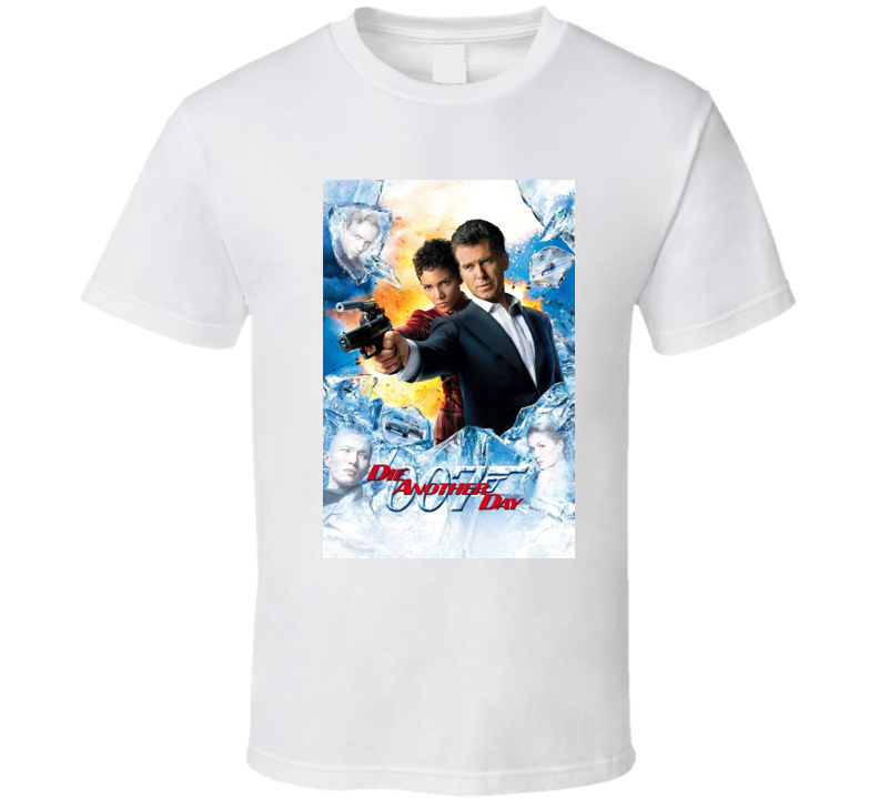 Die Another Day 007 Movie Cover  T Shirt